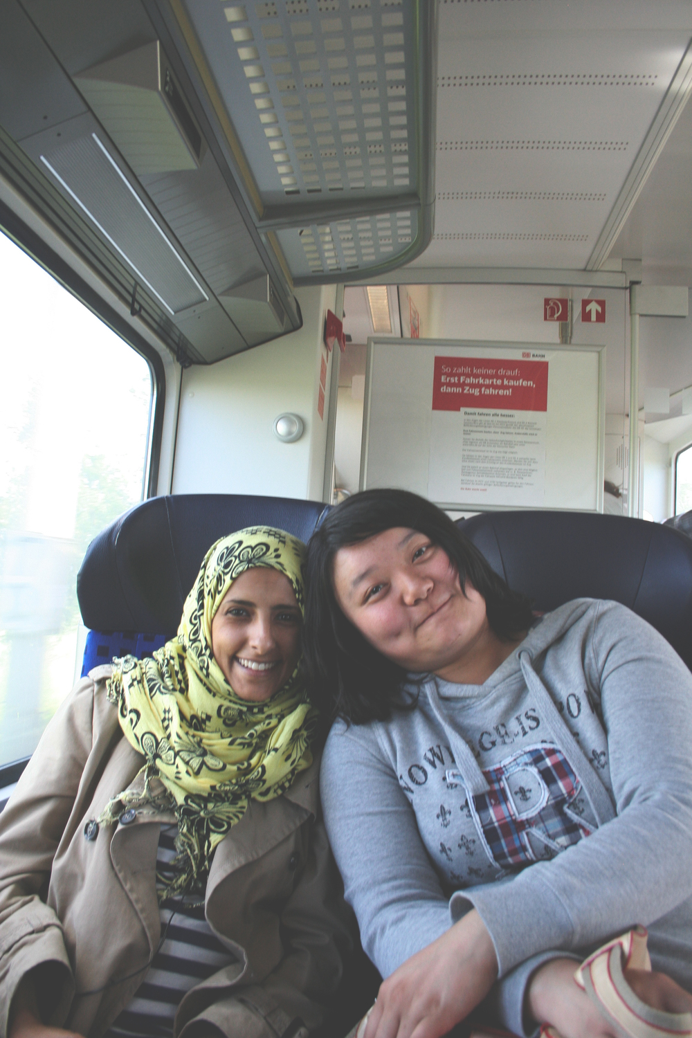 My friends from class on the way back from Schwerin!