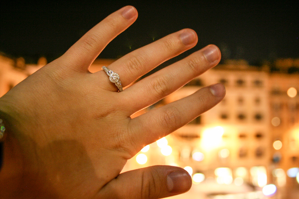 Rome. Engaged on the Spanish Steps!