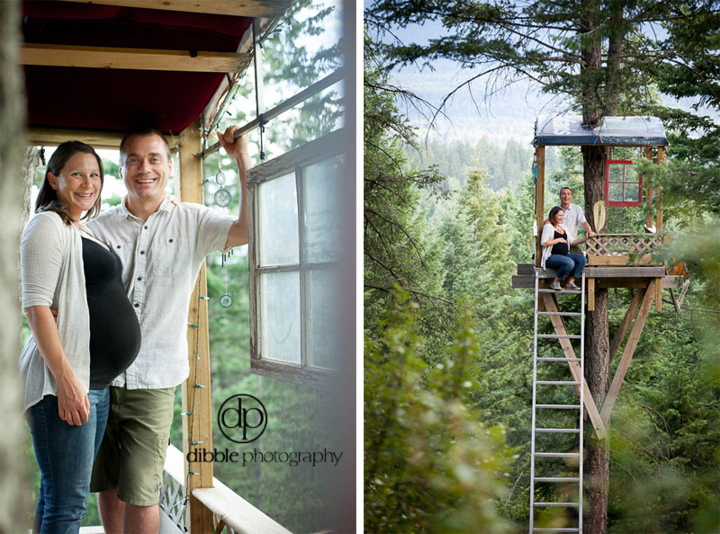 Treehouse Maternity Portraits