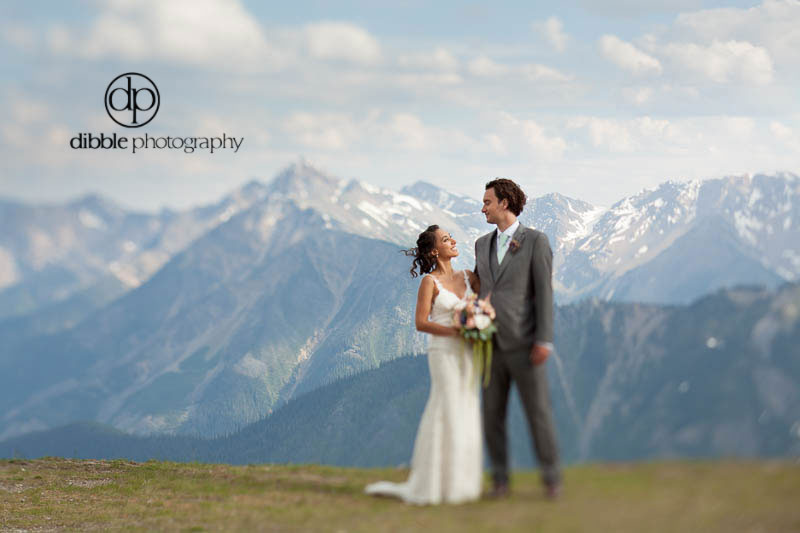 Mountaintop Wedding Portrait