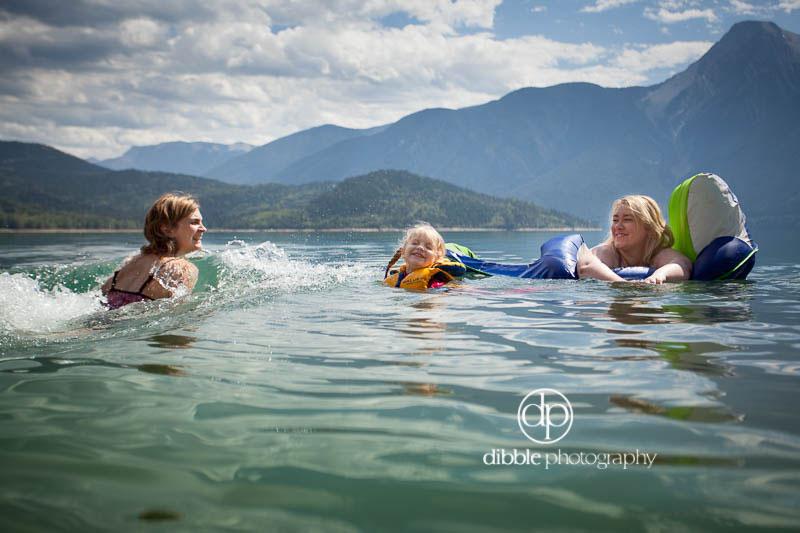 Swimming in Kinbasket Lake