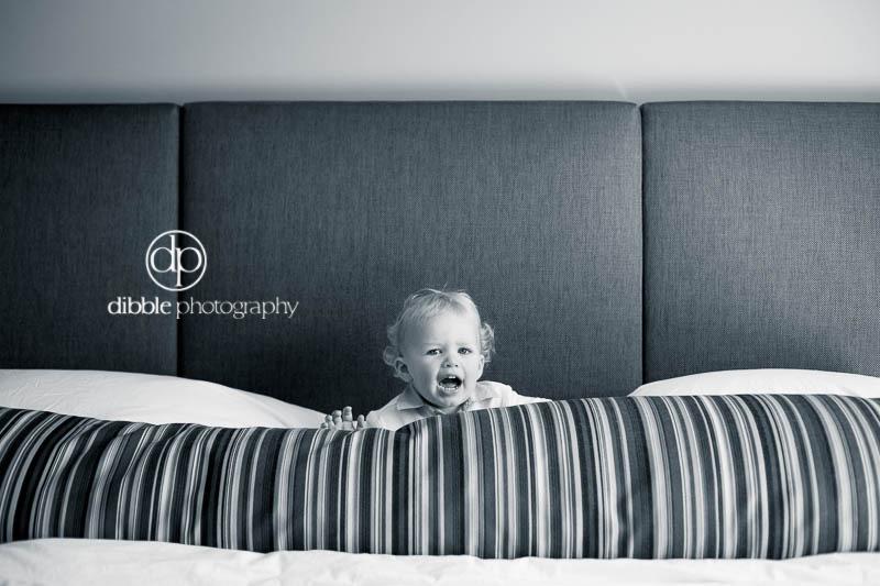 black+white toddler portrait