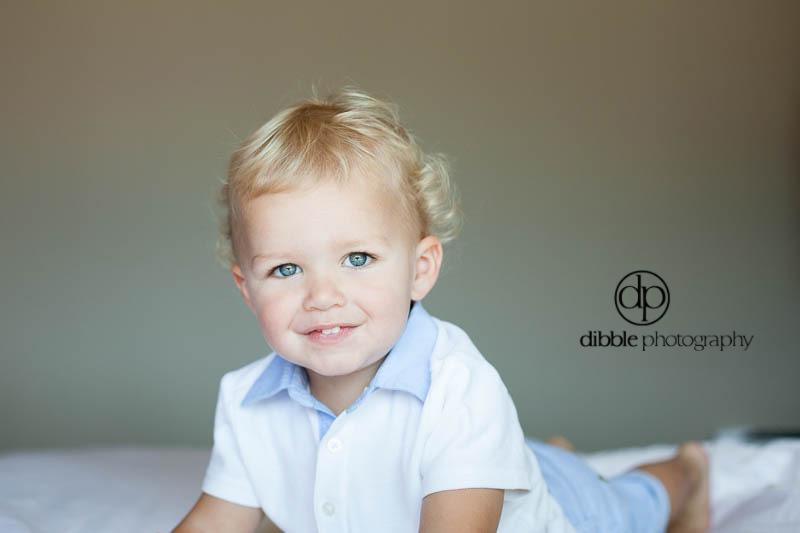 blonde toddler portrait