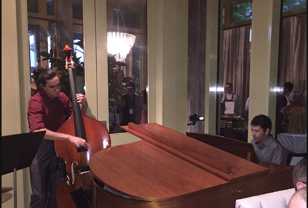 Carlos Henrique Pereira Trio performing at the Healdsburg Hotel Lobby on August 20th, 2016. Carlos on piano, Tyler Harlow on acoustic bass and Dylan Habegger on drums.