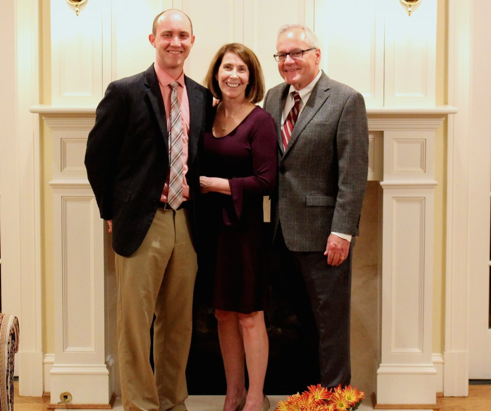O'Brien & Keane Celebrates 25th Anniversary - November 2018Pictured at left: Joe DeVylder, Nancy Keane, and Jim O'Brien at the Anniversary Mass and Dinner
