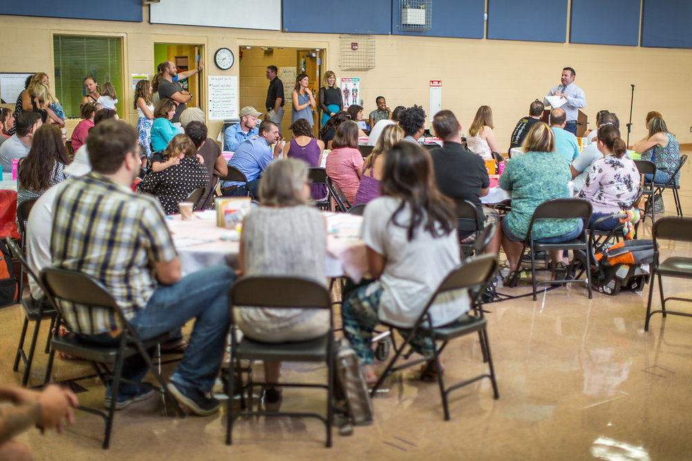 Boo Hoo Breakfast for Kindergarten Parents at Dan Mills E.S. Aug. 3, 2016; image by  Jason Bihler Photography