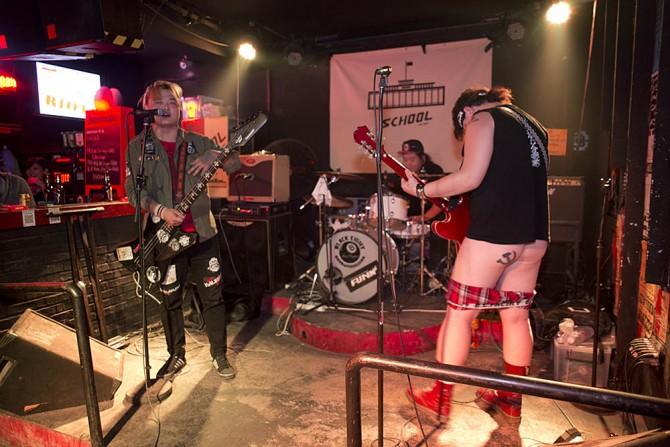 D-Crash playing at School Bar, October 7, 2013.