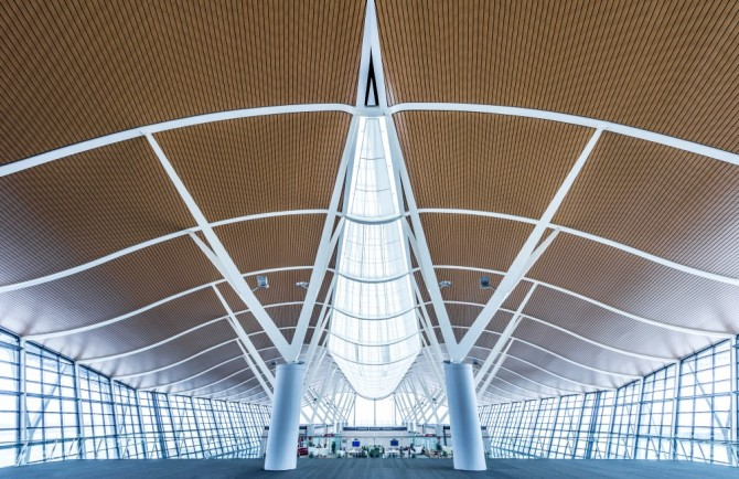 Airport: For a feature on Modern Chinese Architecture.