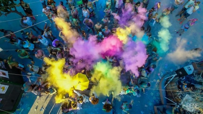 Spirit of Holi in Spain by Rene Strgar, United Kingdom.
