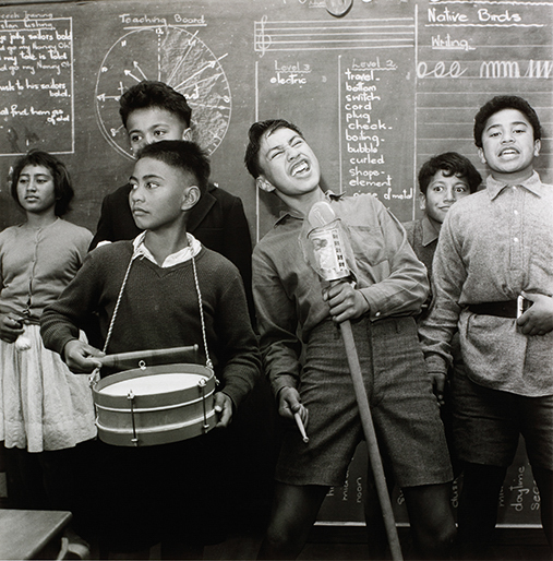 Ans Westra, Students performing, Whatatutu Primary School, near Wairoa, 1963
