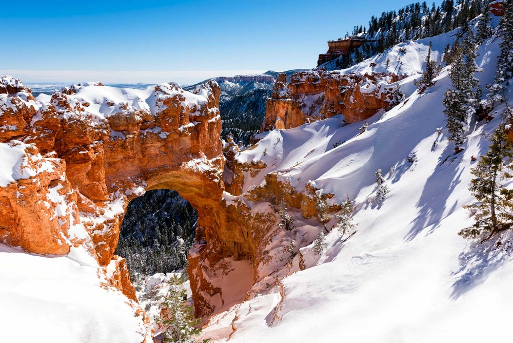 Natural Bridge at Bryce Canyon National Park; Nikon D810, 24–70mm, f/8, 1/640s, ISO 100, exposure bias +0.3 step