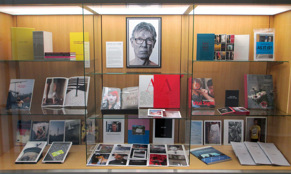 Installation view,  Nothing Is As It Seems: Harvey Benge Photobooks , 2015, E H McCormick Research Library, Auckland Art Gallery Toi o Tāmaki