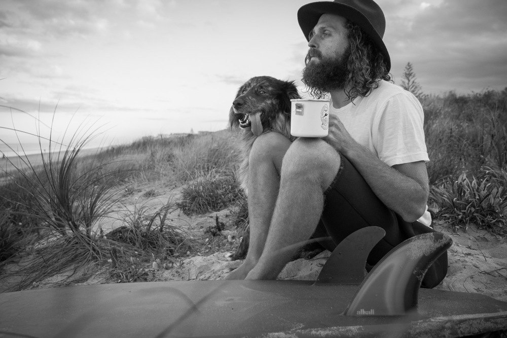 Merit Award: Early Morning Surf Check with Best Mate by Dominico Zapata