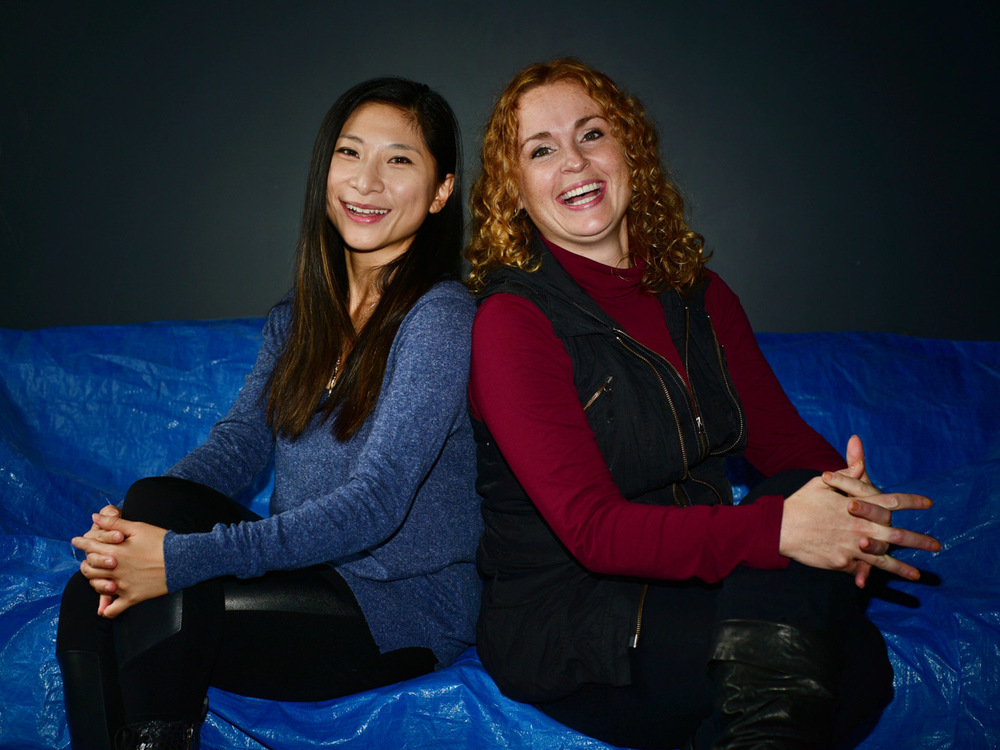 SAE Creative Media Institute students Nicole Chen (left) and Donna Kavanagh (right)