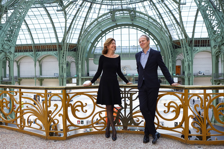 Florence Bourgeois, Director of Paris Photo and Christoph Wiesner, Artistic Director of Paris Photo, Grand Palais, November 9, 2016 © Jérémie Bouillon / Paris Photo