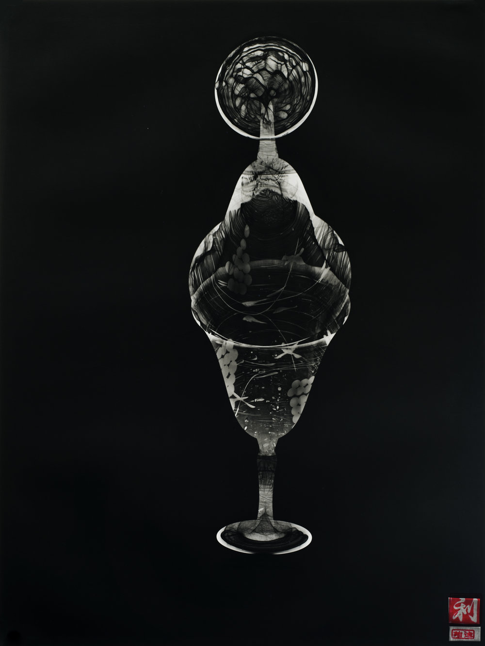 Susan Purdy, Flip, 1999, from the series Love Letters, gelatin silver print with ink, 66.0x44.0cm, Monash Gallery of Art, City of Monash Collection
