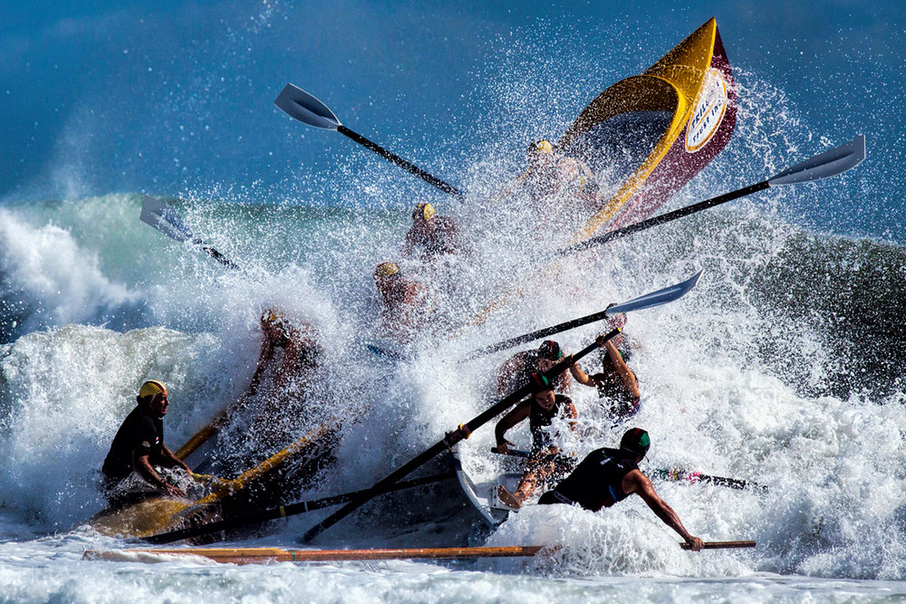 Action category winner, Bill Hodges, Surfboat Chaos