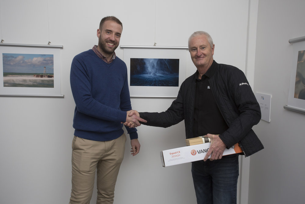Stephen Milner, third-place Landscape photographer, with Mark Ward of Sigma/CRK