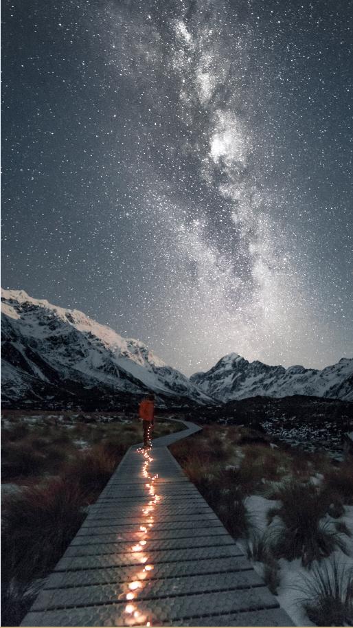 Samuel Bingham, Hooker Valley, Nikon D800