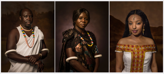 Nando Azevedo, The Resettlement Portraits with Abann, Raquel, and Yohanna
