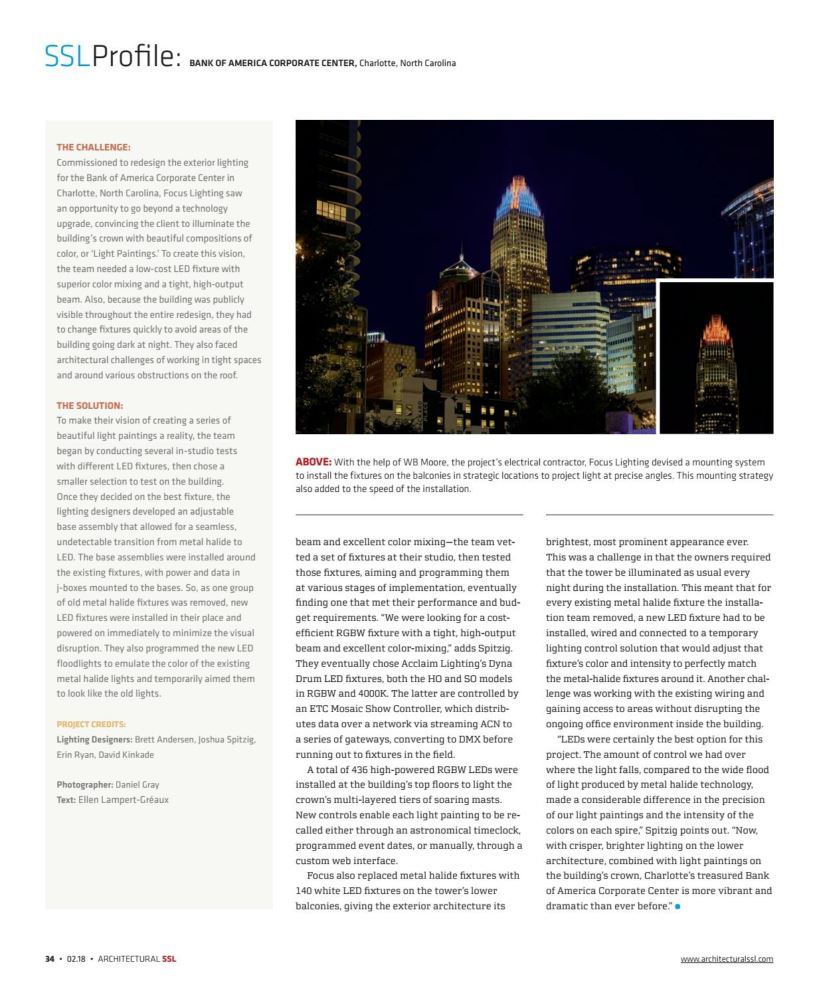 News Gallery Focus Lighting Architectural Lighting Design
