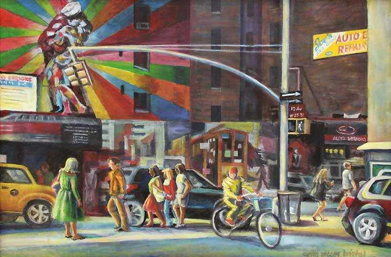 W 25th St and 10th AV, NYC - acrylic on canvas