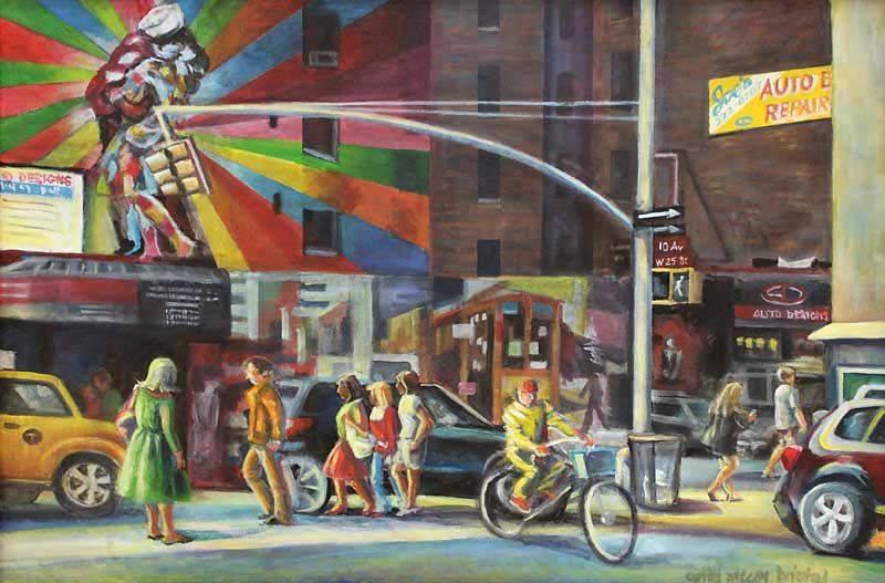 W 25th St and 10th AV, NYC - acrylic on canvas