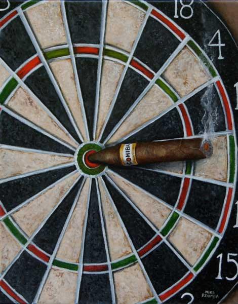 Mike Dziomba : Bullseye, acrylic