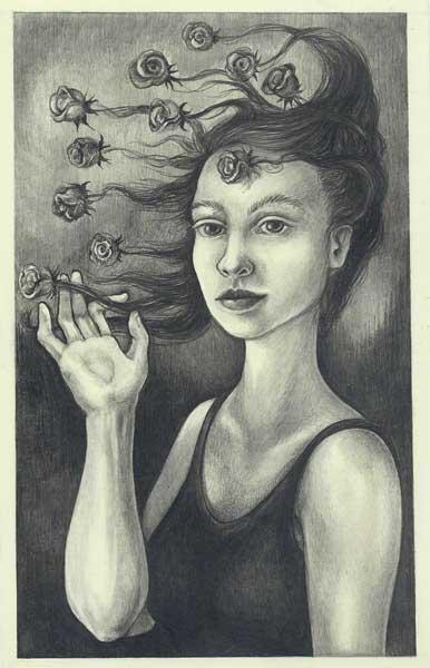 Sarah Petruziello: Primavera, graphite