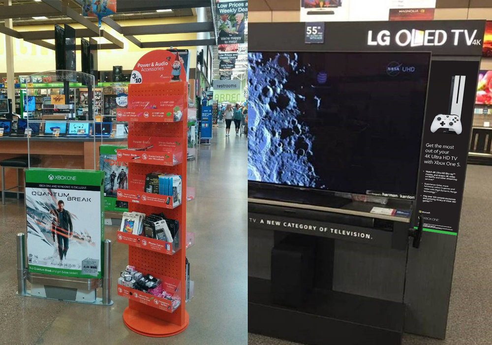 Our visual merchandising campaigns can be seen across the US in Fred Meyer, Best Buy, Staples, Walmart, Costco, and more.