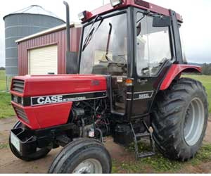 Case diesel tractor powered by biofuel