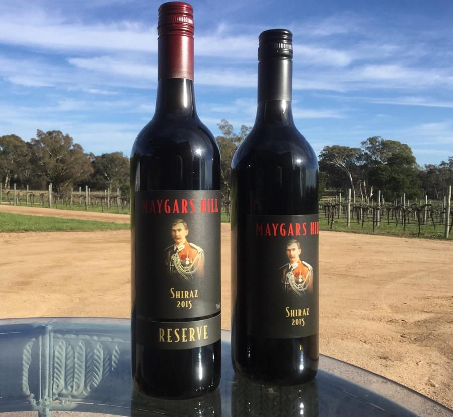 Gold Medals for both the 2015 standard and Reserve Shiraz at Rutherglen. October 2017