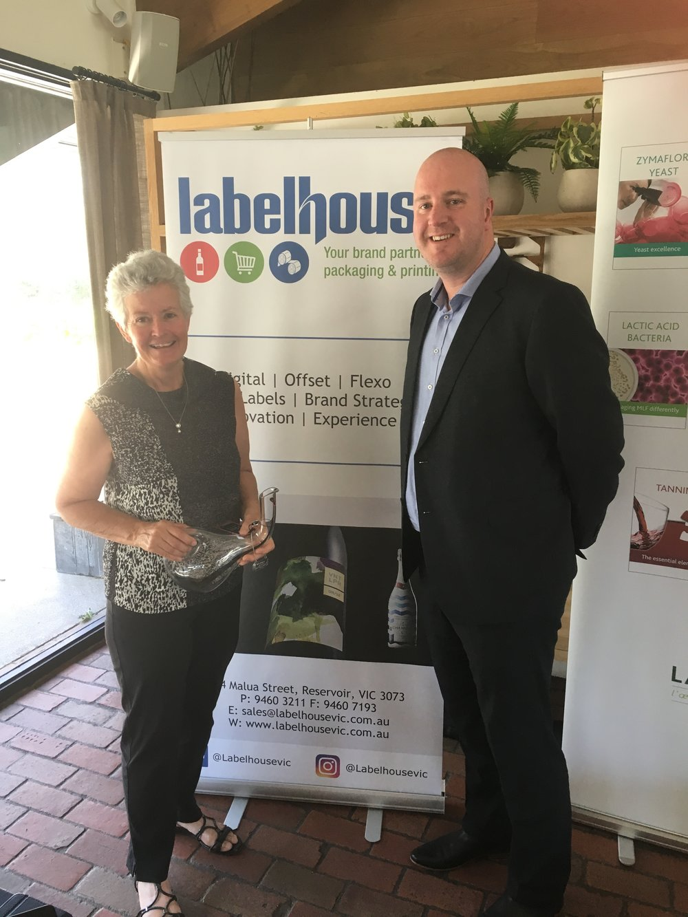 Gold and Trophy for the 2015 Shiraz, Victorian Wine Show 2017  donated by  Labelhouse   - Nov 2017