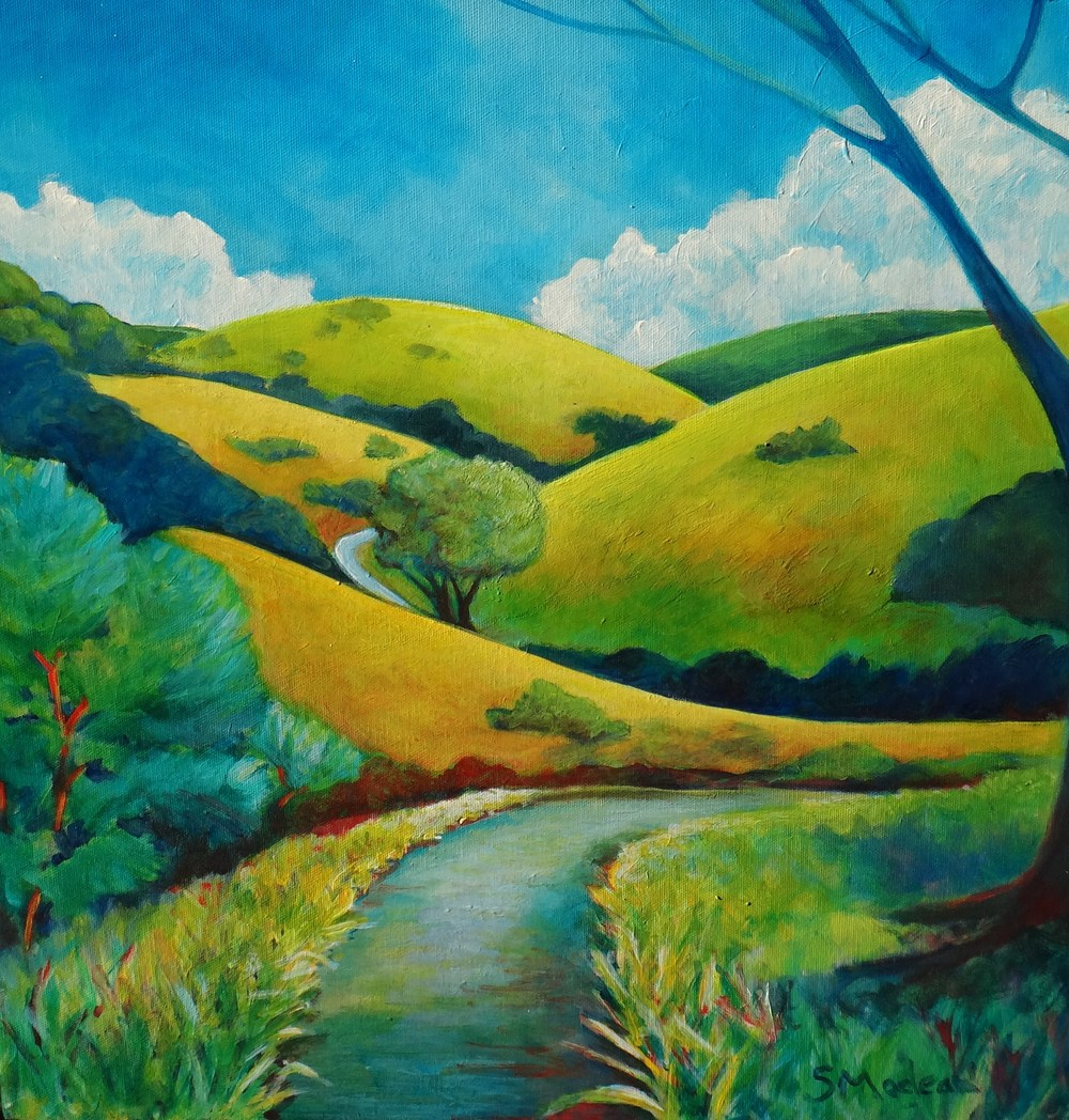 "Oak Ridge Trail 20""x20"" $500"