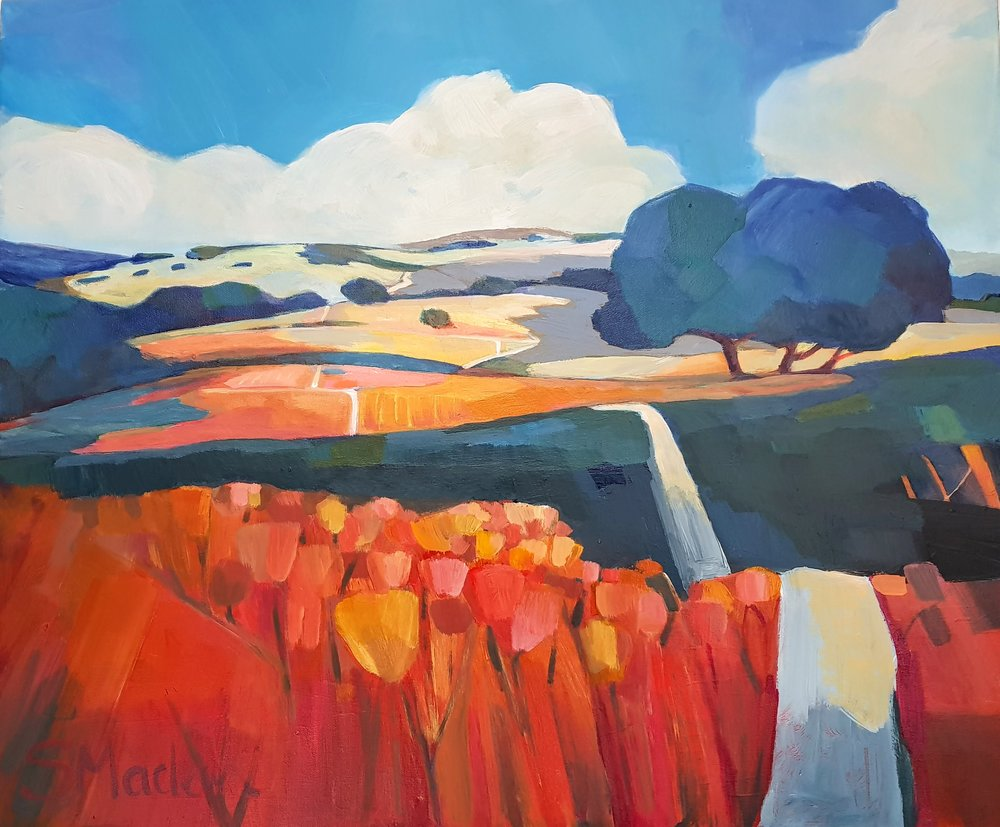 """Foothill Rollers 24""""x20"""" $950"""