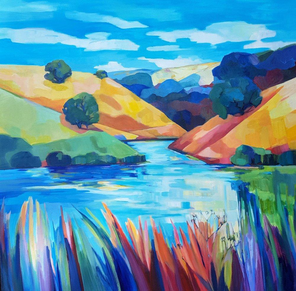 Calero Lake 36x36 $2500