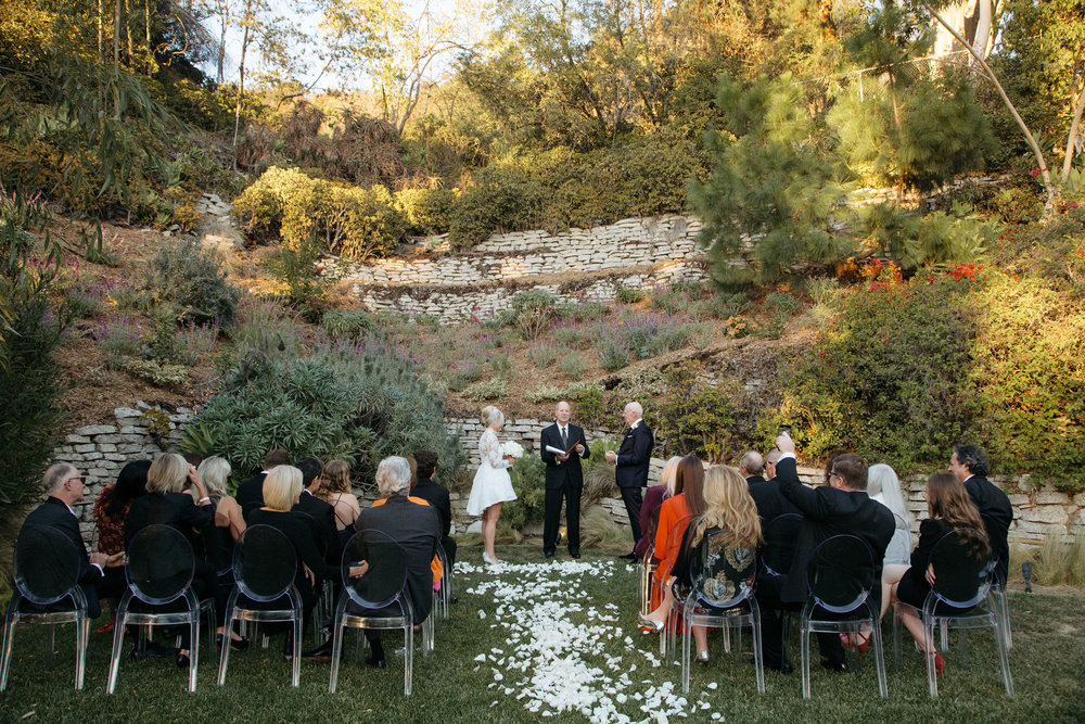 Black Tie Backyard Wedding
