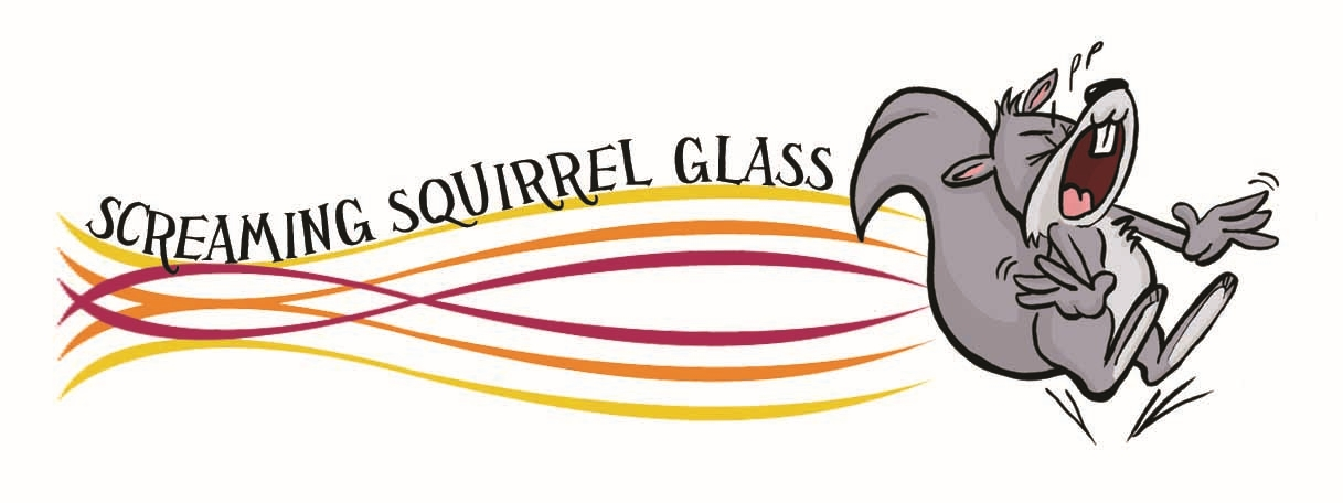 Screaming Squirrel Glass