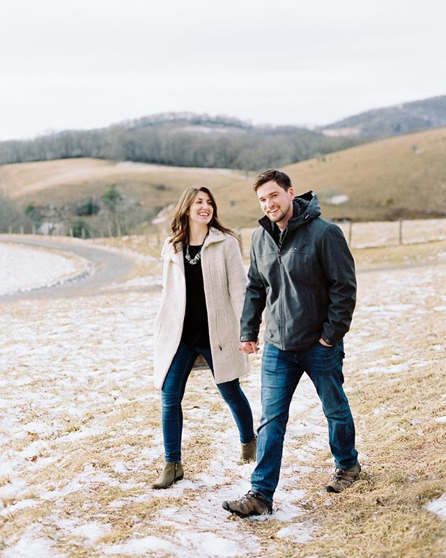 Kourtney & Brian's snowy...ish engagement session at Cone Manor ❄️ #sheastoleherhart
