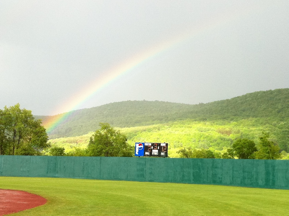 Rainbow in Cooperstown - June 3, 2012