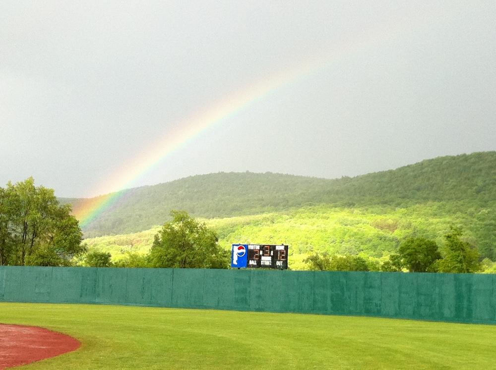 Rainbow in Cooperstown - June 3, 2012