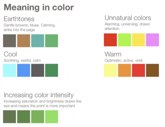 color has meaning — juice analytics