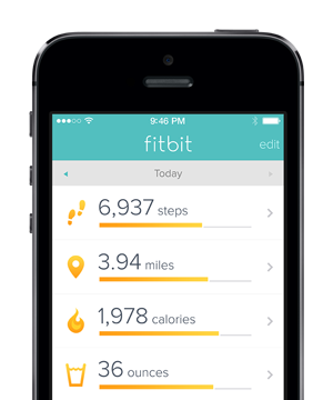 Fitbit's mobile dashboard