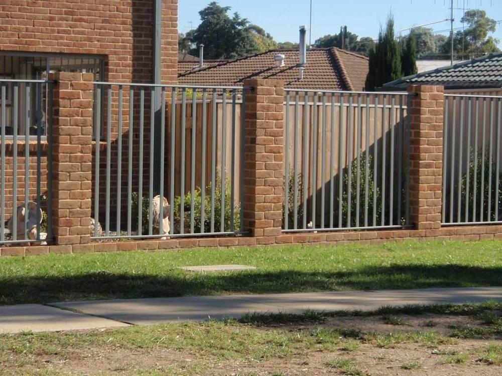 Steel Framed Fences : Steel frame pool fence — canberra fencing