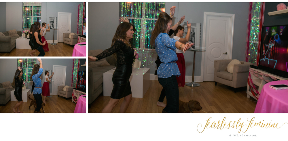 What's a Galentine's party with out some dancing?! Shake it ladies!