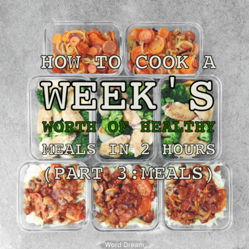 How To Cook A Week S Worth Of Healthy Meals In 2 Hours Part 3