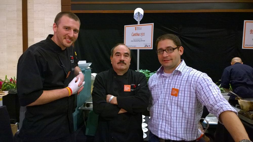 Chef VInce Giancarlo, Chef Sigifredo Ortiz, and GM VInce Ponzio