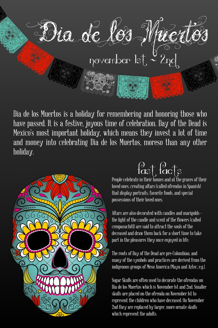 Dia de los muertos cantina 1511 dia de los muertos is a holiday for remembering and honoring those who have passed biocorpaavc Images