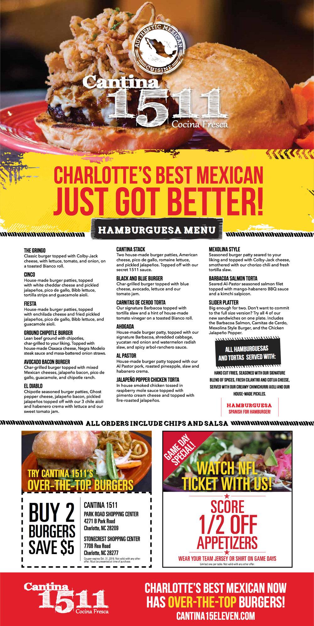 Observer Ad-$5 off Burgers