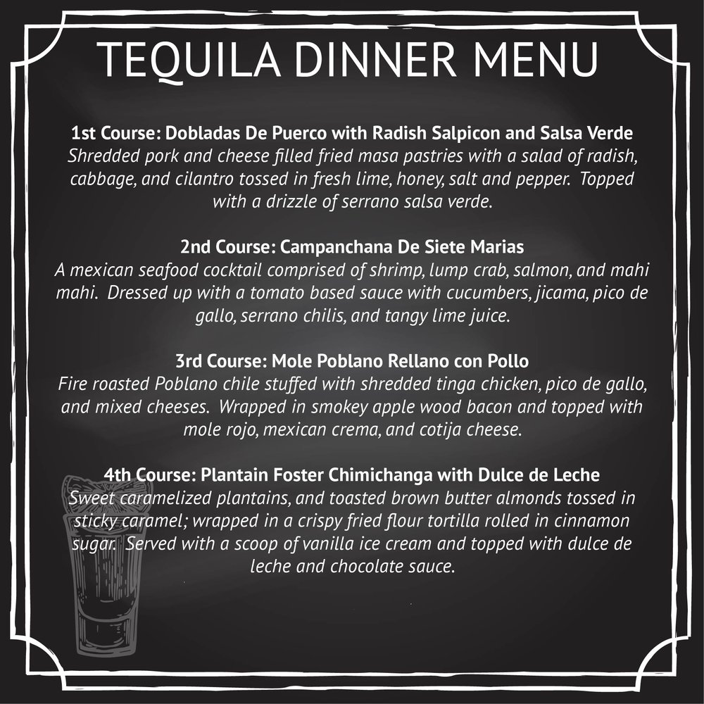 tequila dinner signup page
